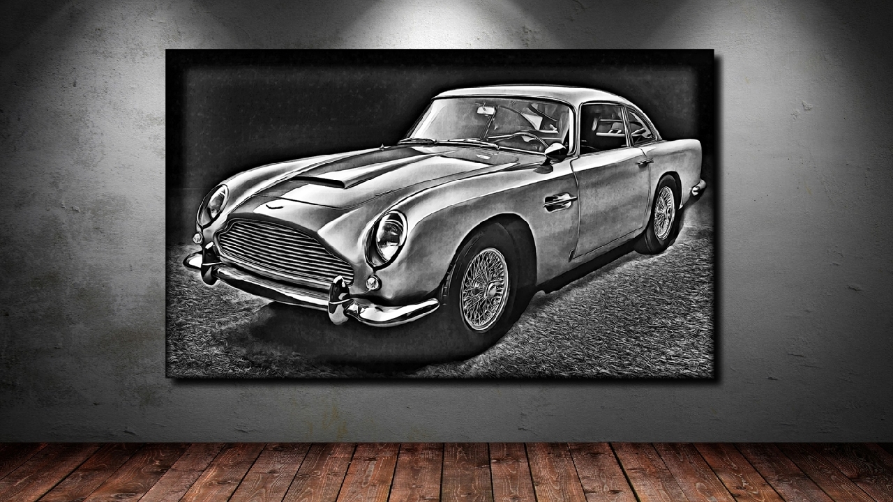 Poster Xxl Pop Art Aston Martin Db 5 Oldtimer Abstrakt Auto Poster 90x150 Ebay