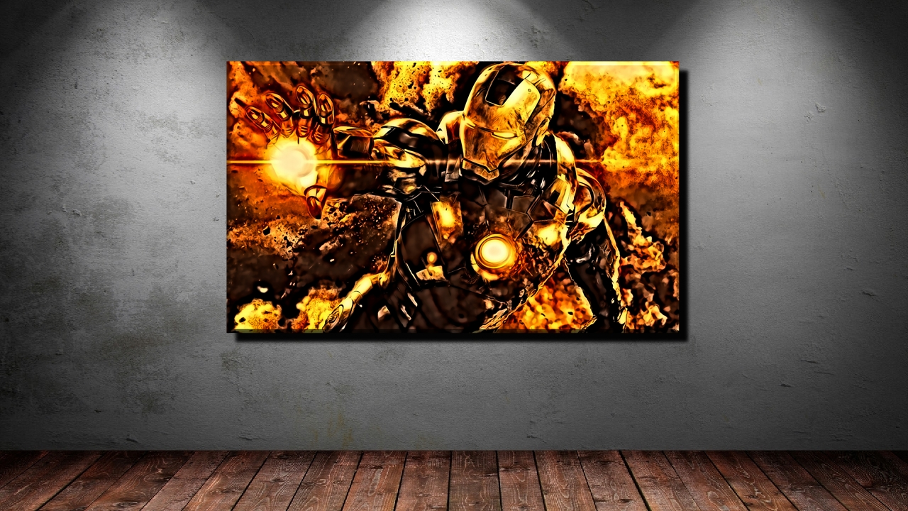 leinwand bild xxl pop art iron man avengers marvel x men. Black Bedroom Furniture Sets. Home Design Ideas
