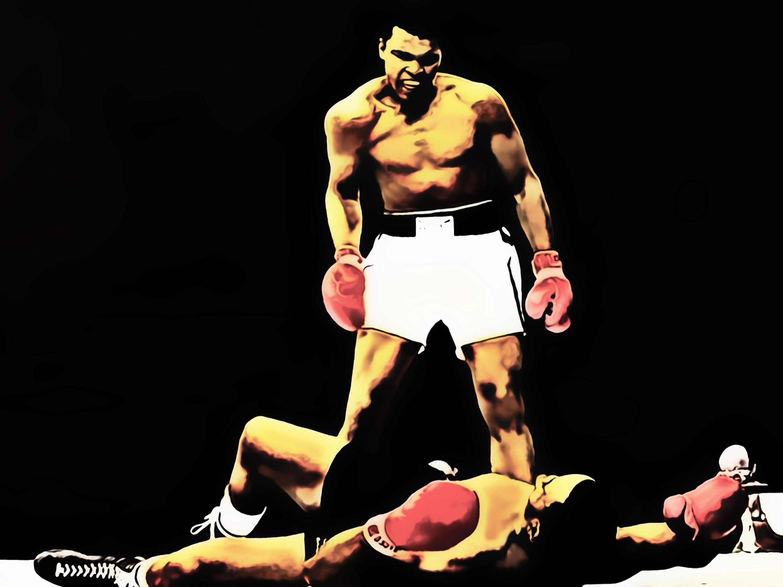 poster xxl pop art muhammad ali boxer sport star fight cassius clay 120x90 ebay. Black Bedroom Furniture Sets. Home Design Ideas
