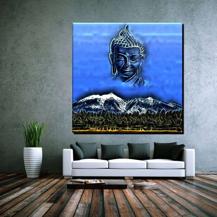 poster pop art buddha china nepal zen berg religion thailand 80x80 ebay. Black Bedroom Furniture Sets. Home Design Ideas